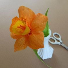Flores de papel Paper flower DYS Tutorial Daffodil - Patterns for Crepe Paper Flowers | eHow