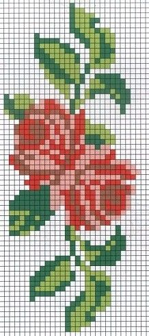 rose cross stitch chart
