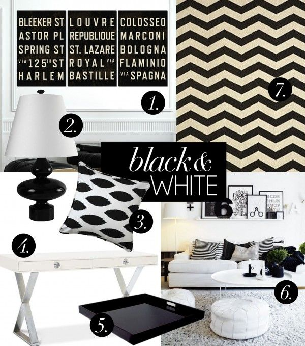b & wInterior Decorating, Black And White, Home Decorating, White Decor, Decor Stuff, Blackandwhite Accent, Blackwhite, Black White Interiors, Interiors Decor