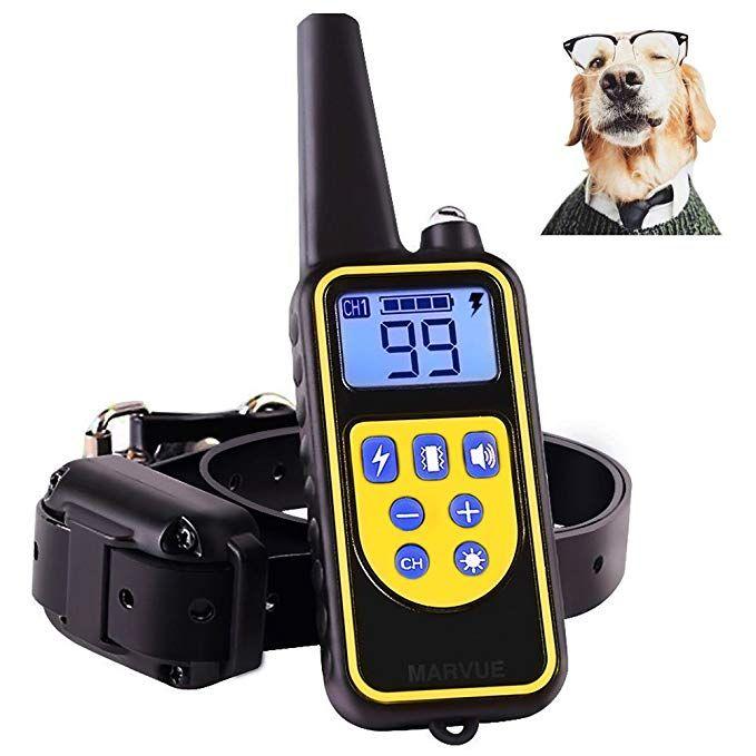Linnse Dog Shock Collar With Remote 800 Yards Dog Training Collar