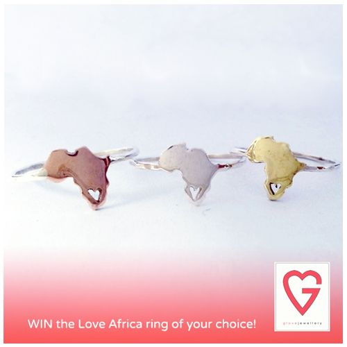 Win with @Janine Esterhuizen and Hello Pretty!  To celebrate Heritage Day, Glove Jewellery is giving away a beautiful Love Africa ring of your choice.  Check out the blog at blog.hellopretty.co.za for more details.