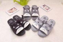 Kawaii totoro fumetto peluche chaussons calde pantofole casa d'inverno pantofole open toe donne pantuflas zapatos mujer vendita al dettaglio(China (Mainland))