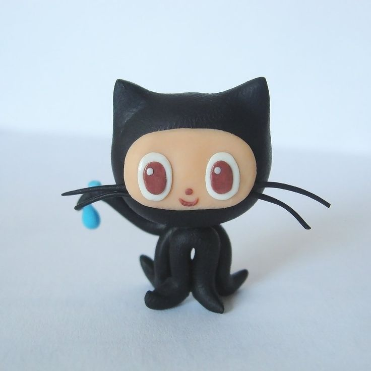 I used to see it quite often. This weird cat is actually github logo  #polymerclay #fimo #clay #clayart #polymerclaycharms #claycharms #sculpey #premo #fimoclay #artsandcrafts #claysculpture #polymerclaycreations #figurine #polymer #handmade #diy #craft #polymerclayart #cat #github#programming #logo