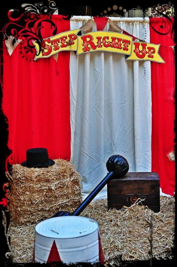 Photo Booth with Props  Set the stage for your circus photos with props like these!