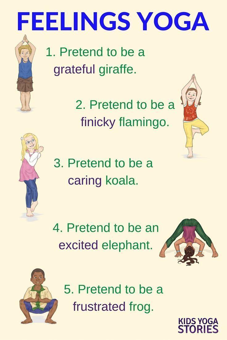 Feelings Yoga for Kids: talk about feelings through movement | Kids Yoga Stories #Yoga