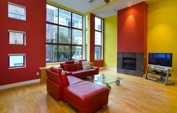 Bold colorsColors Apartments, Sf S Soma, Colors Choice, Loft Colors, Questions Colors, Colors Palettes, Modern Spaces, Painting Colors, Bold Colors