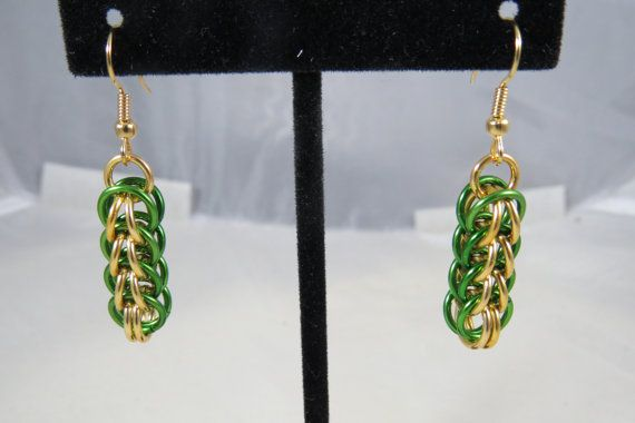Green and Gold Full Persian Chainmaille by TheveninJewelry on Etsy, $10.00