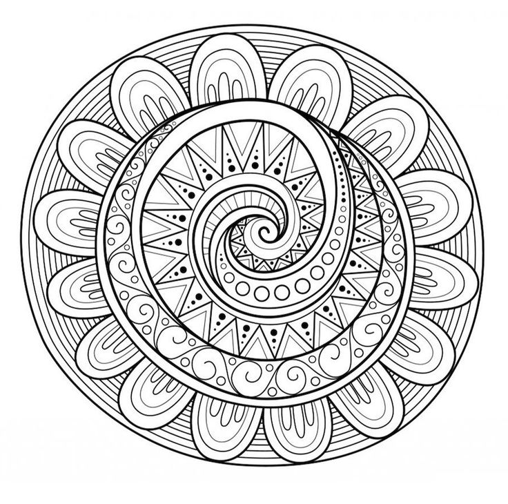 A big collection of unique mandala doodles. Free to download!