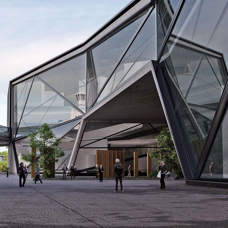 Kinmen Passenger Services Terminal by Urban Office Architecture in China. The Building arches over the Park and lets it extend it underneath so that the City and the Sea are connected through the Terminal building.