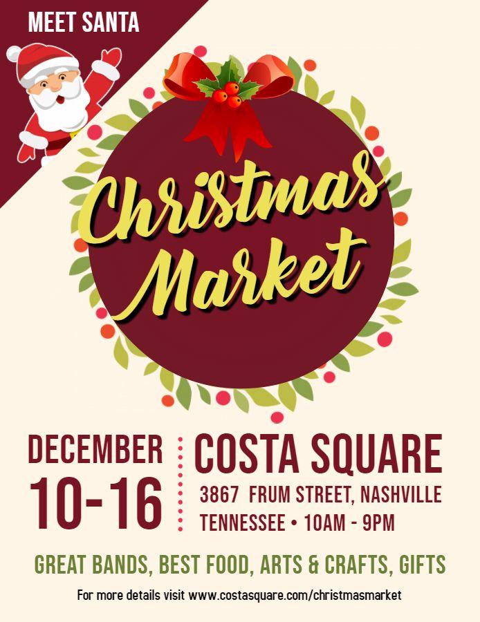Christmas Market Event Poster Idea Christmas Market, Christmas