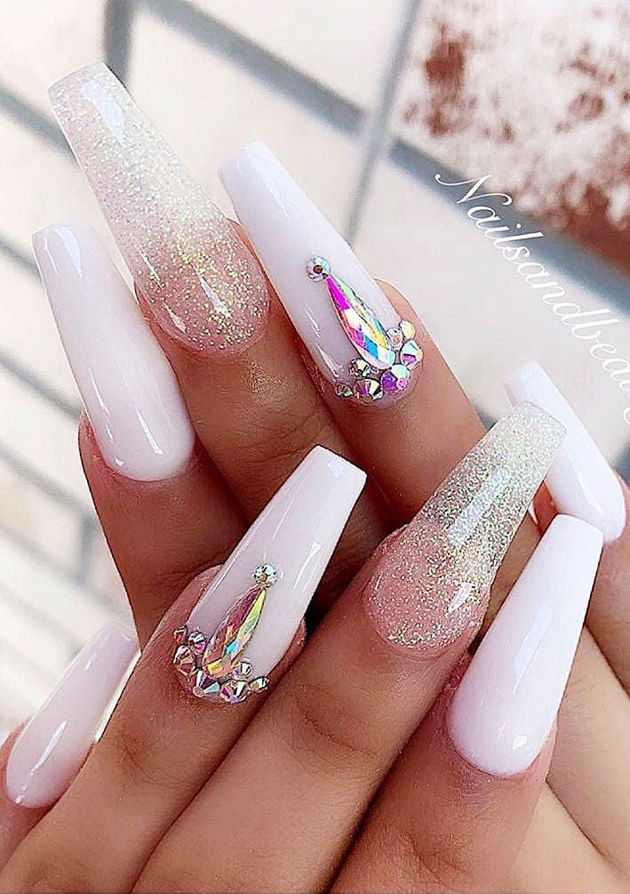 2019 Flashy Acrylic Nail Designs In Coffin Shape Of Summer Season Page 19 Special Nails Acrylic Nail Designs Best Acrylic Nails