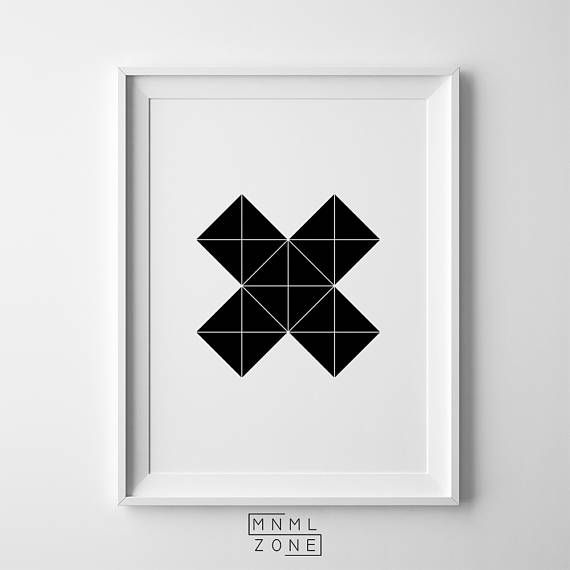 Black Cross Abstract, Geometric X Poster, Geometrical Abstract, Geometrical Print, Nordic Wall Art, Living Room Decor, Large Modern Art, Printable Art Gift, Contemporary Home, Unique Scandinavian, Digital Download, Scandi Swiss, Black and White
