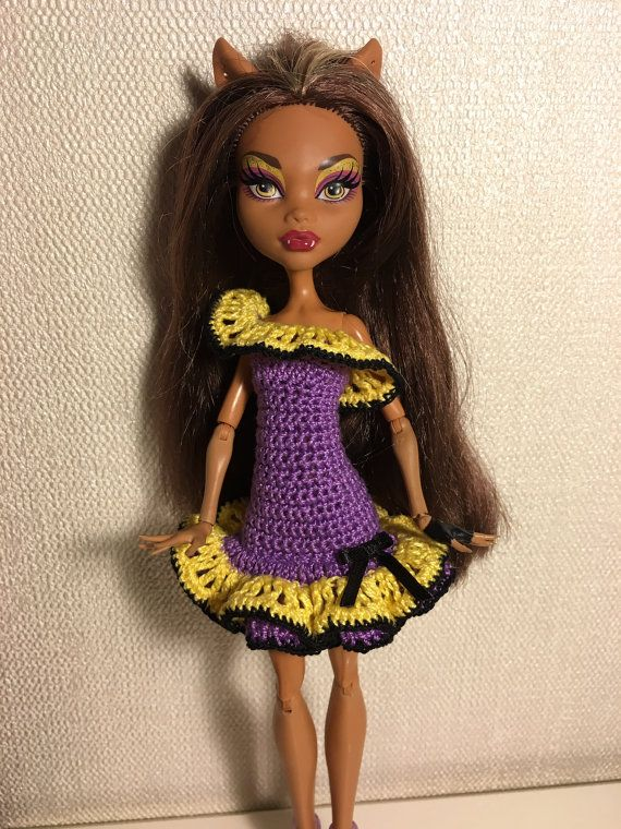 Beautiful dress for Monster High Doll by DianaWeddingBoutique