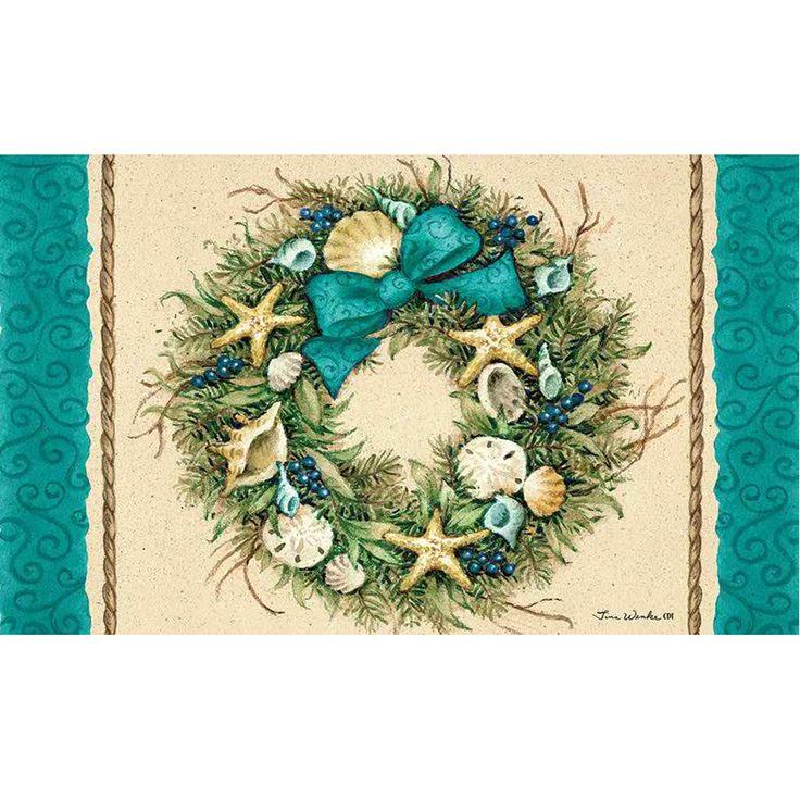 Coastal Wreath Doormat