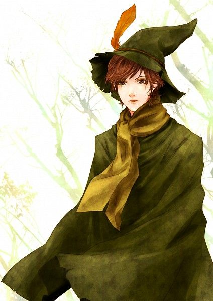 Tags: Anime, Moneynew, Moomin, Snufkin, Green Outfit, Hat Feather, Feather