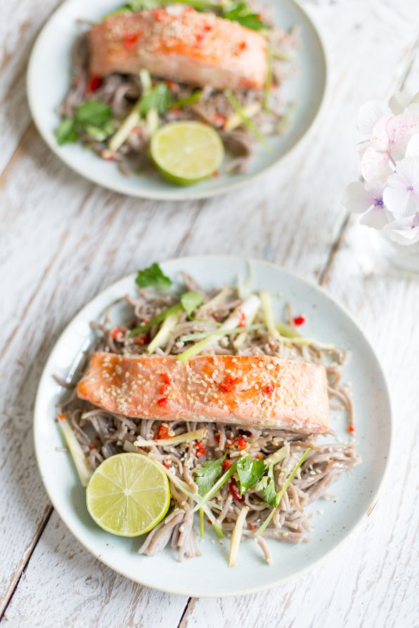 Teriyaki Salmon and Buckwheat Noodles - Madeline Shaw