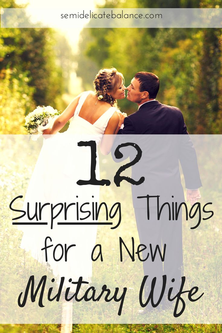 12 Most Surprising Things for a New Military Wife