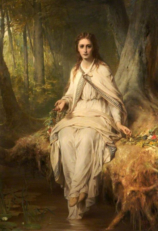 Ophelia by Thomas Francis Dicksee  Date painted: 1873 Oil on canvas, 141.6 x 101 cm Collection: Rochdale Arts & Heritage Service