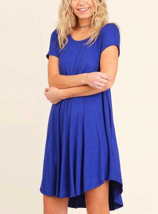 Electric Blue T-shirt Dress