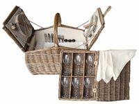 6 Person Hamper Farmhouse Picnic Basket Hamper