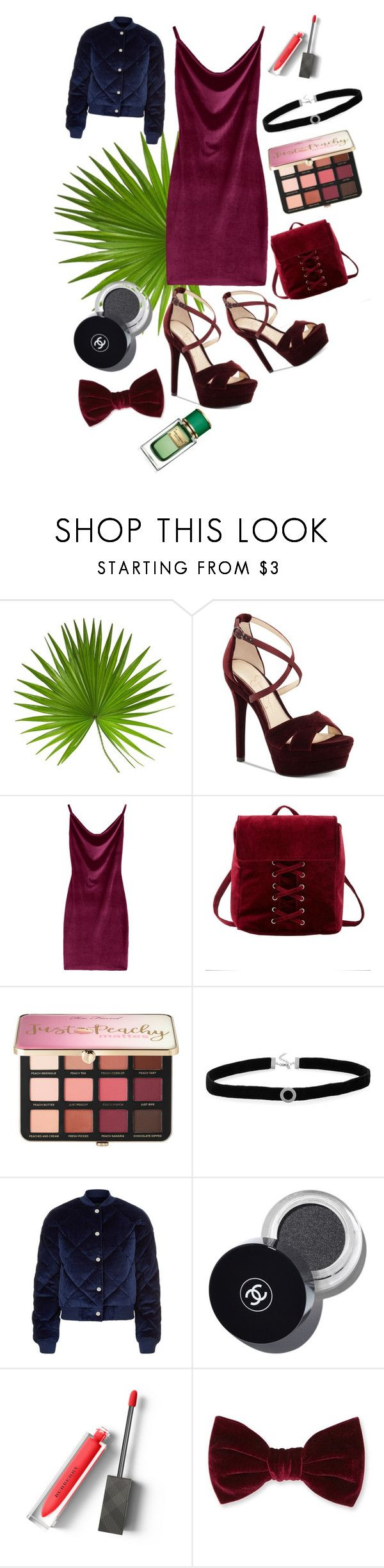 """Velvet"" by heidihansen0505 on Polyvore featuring Jessica Simpson, Charlotte Russe, Sephora Collection, BillyTheTree, Maje, Burberry, Forever 21 and Dolce&Gabbana"