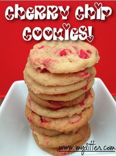 King Soopers Cherry Chip Cookies Recipe {Good for Valentines Day}- So to me the Cherry chips tasted too much like cough syrup So i mixed them with chocolate chips which helped a lot.