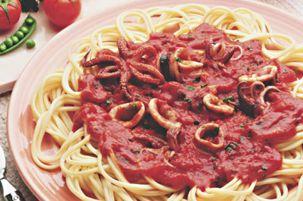 Recette Spaghettis Aux Calamars / Encornets | Ducros