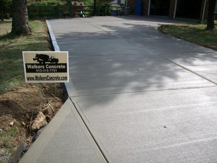 30 best concrete driveways images on pinterest concrete for Temperature to pour concrete driveway