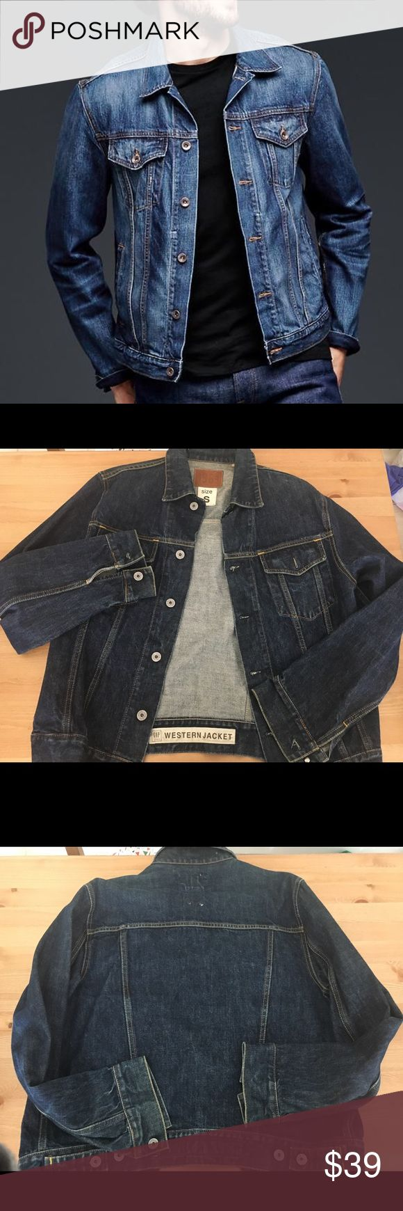 1969 Western Gap Jacket Men's pre owned denim jacket  Arms length:25 1/2  No rips or Stains GAP Jackets & Coats Bomber & Varsity