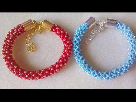 Abalorios - Como hacer una pulsera de Crochet - YouTube