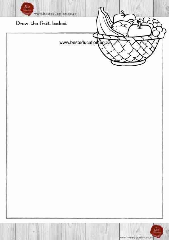 Draw the fruit basked Grade 5 Art - www.besteducation.co.za