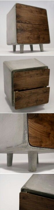 Concrete & wood!!!