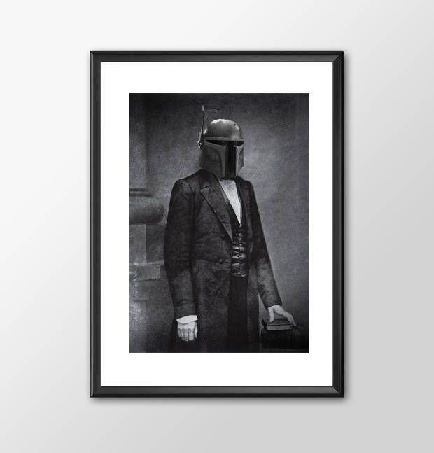 Star Wars Art - Civil War Fett Alternative Star Wars -  Print - BUY 2 Get 1 FREE by ShamanAlternative on Etsy