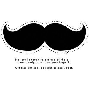 "Mustache Cut Outs - Bing Images - these were similar to the ones used for the DIY straw toppers - ""drink like a sir"" just hole punch in the center and slide on after printing the number u need"