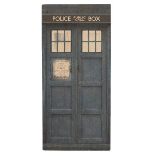 Retro 1960s Police Call Box Wood USB Flash Drive