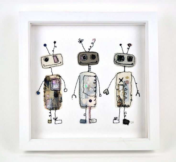 Robot Trio | Made By Hand Online - Emily Notman