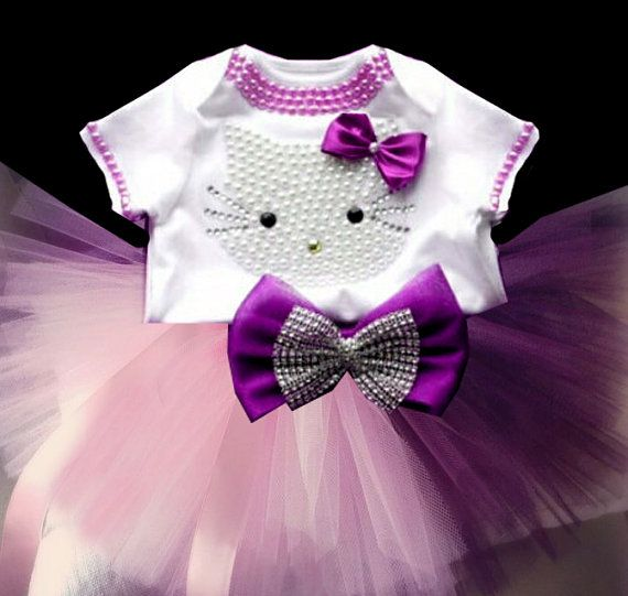 Hello Kitty Birthday Tutu Set Girls Personalized Hello Kitty