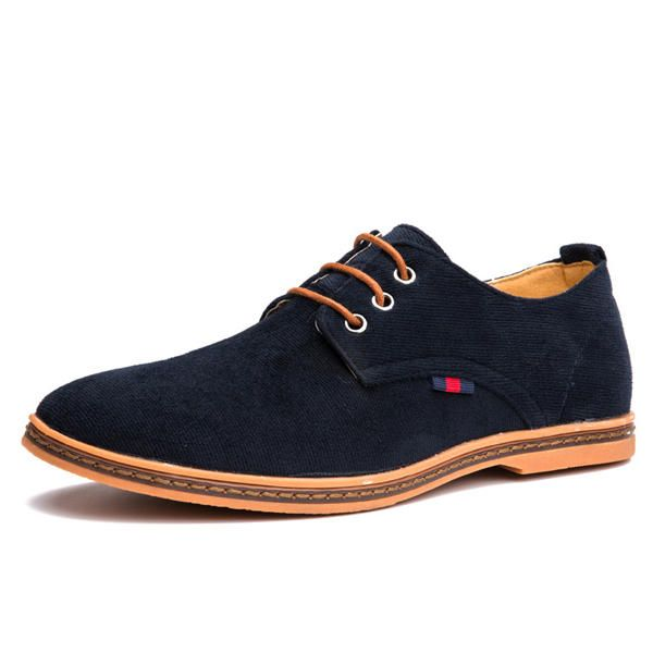 US Size 6.5-12 Men Casual Soft Comfortable Flat Oxford Suede Lace Up Shoes - US$38.62