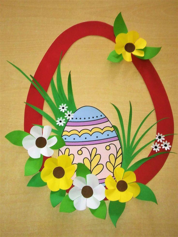 Decoração de ovo de Páscoa.