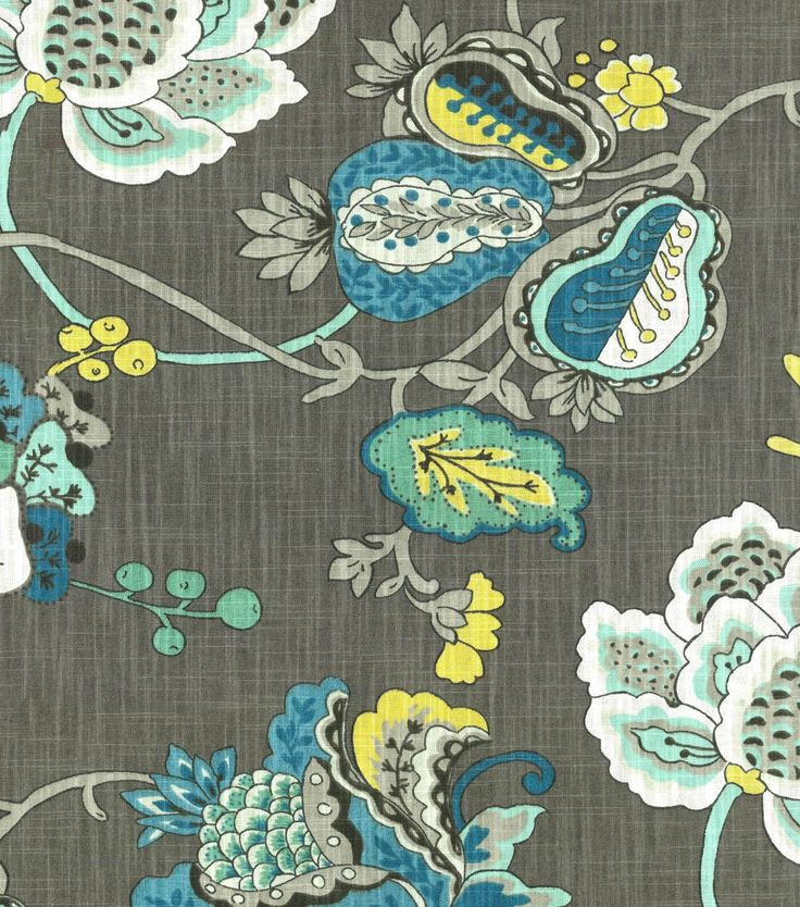 home decor print fabric richloom studio bach aquamarine - Home Decor Fabric