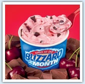 I love DQ. Choco Cherry Love is their Blizzard of the Month. My all time fav is the Pecan Cluster Blizzard.