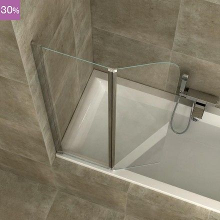 Pare douche brico depot paroi aqua verre transparent for Vitre douche italienne brico depot