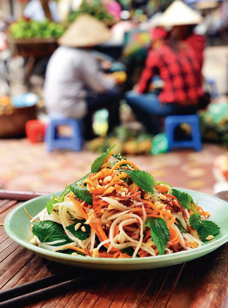 Green papaya salad by Tracey Lister & Andreas Pohl from Real Vietnamese Cooking | Cooked