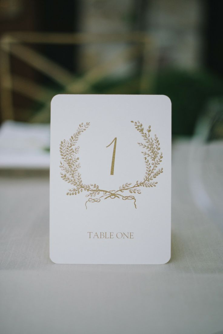 Table Numbers from Obligation Letter Press Via Union Street Papery. See the rest of the wedding on #smp here: http://www.StyleMePretty.com/2014/04/17/pastel-colored-holman-ranch-affair/ -- Photography: DelbarrMoradi.com