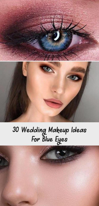 30 Wedding Makeup Ideas For Blue Eyes - Make Up   Shimmer ...