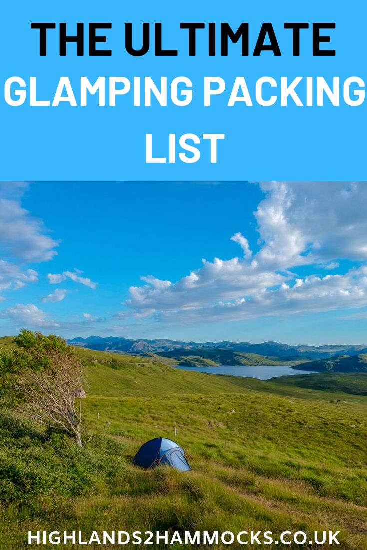 Glamping on a Finances – Packing Record