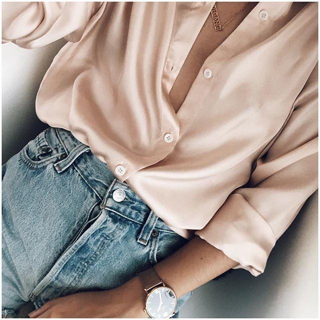 Pink shirt & levis vintage ➰   Emilie_tla