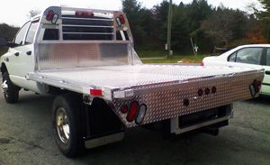We offer both Steel and Aluminum Truck Beds. Take off your boring factory bed and replace it with a shiny but practical steel or aluminum bed. These beds make it easy to load wood, hay or equipment.