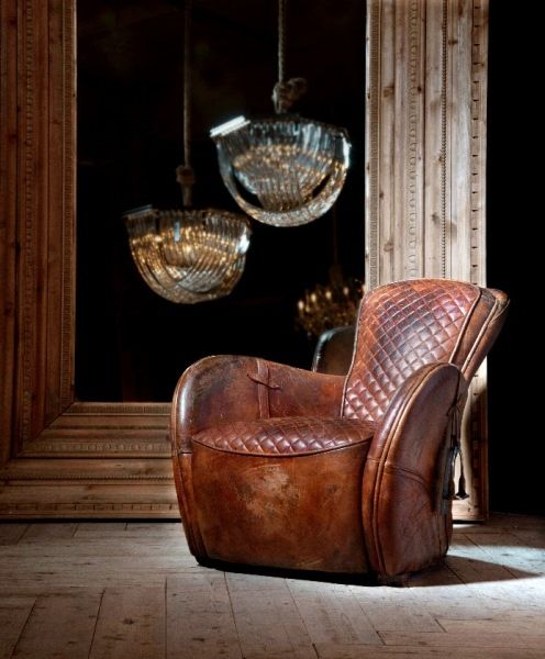 Buck'dN Brok'n leather Saddle Chair | Timothy Oulton