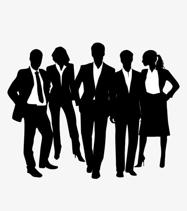 Black Business People Silhouettes Business Clipart People